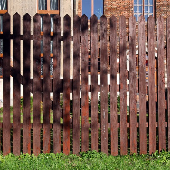 stained fence