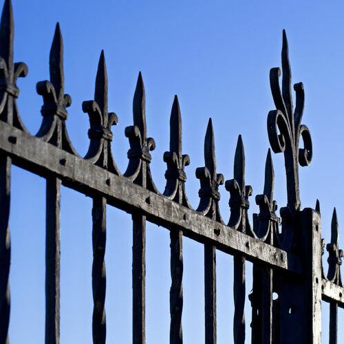A Wrought Iron Security Fence.