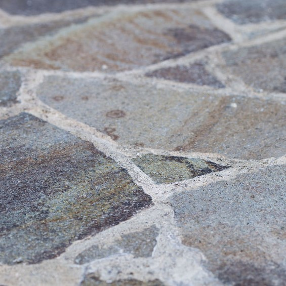 flagstone patio close up