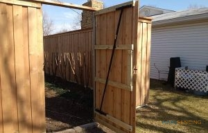 Cedar Fence Installation