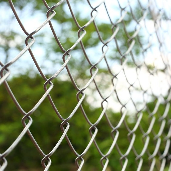 close up of chainlink fence