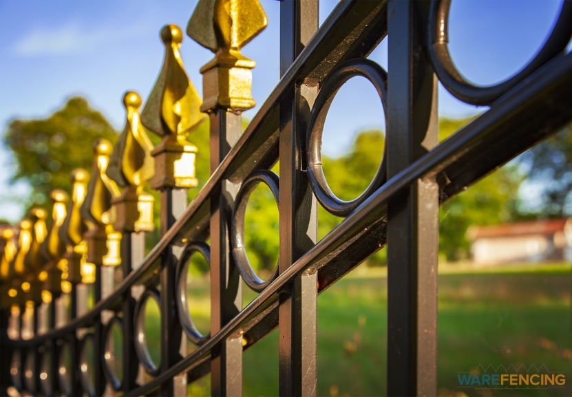 A Picture of a Decorative Cast Iron Fence.