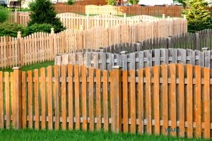 Neighborhood Divided With Wood Fences